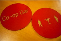 co-op bar coasters